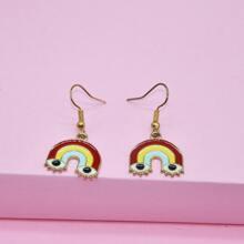 Ohrringe mit Regenbogen Dekor