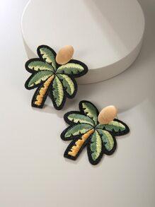 Coconut Tree Design Drop Earrings