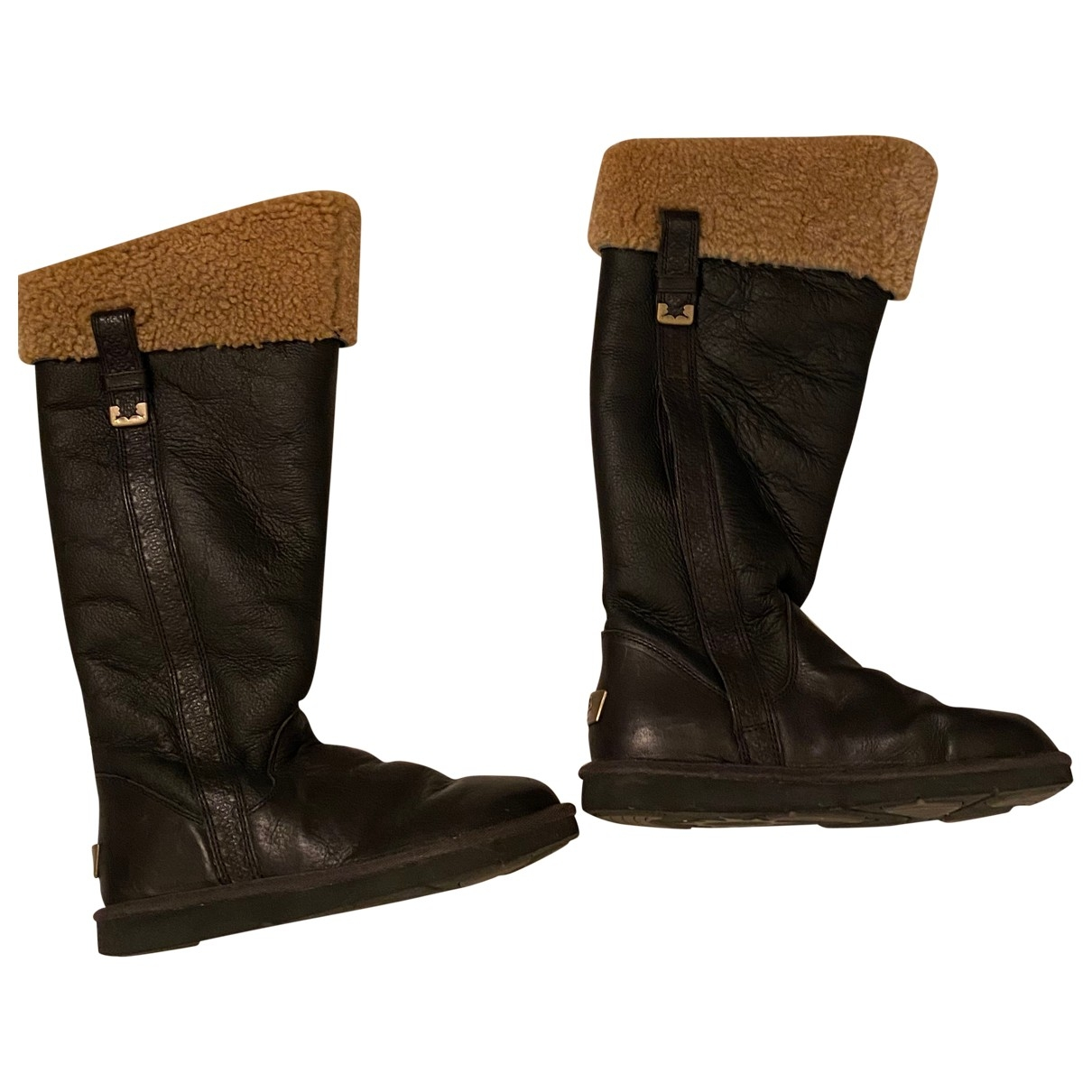 Ugg \N Brown Rubber Boots for Women 38 EU