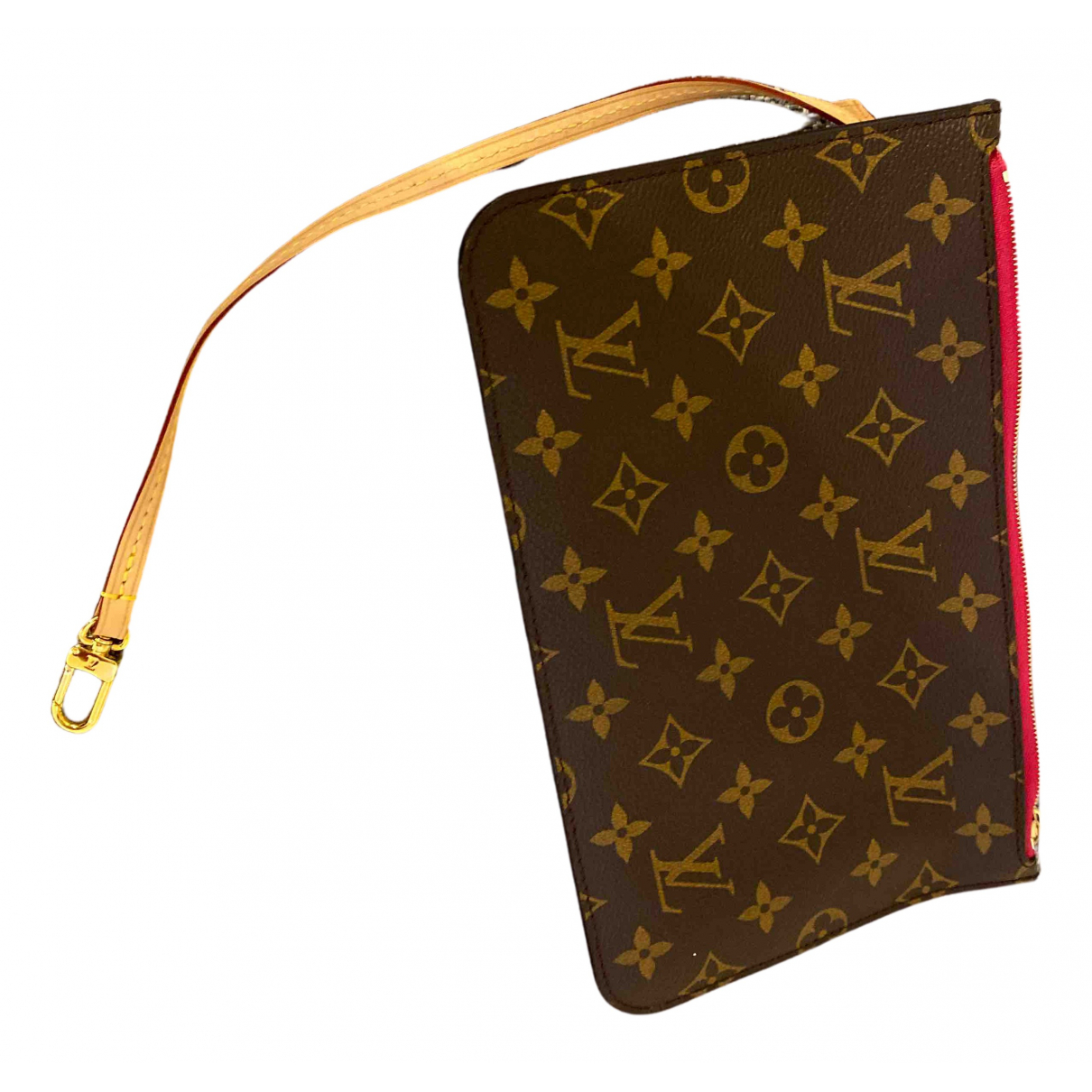 Louis Vuitton - Pochette Neverfull pour femme en toile - marron