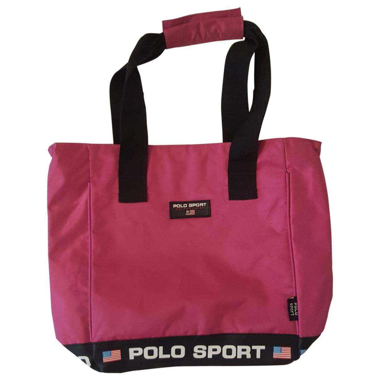 Polo Ralph Lauren - Sac a main   pour femme en toile - rose
