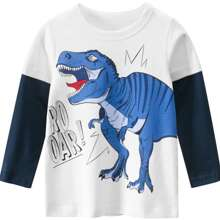 Toddler Boys 2 In 1 Dinosaur Print Tee