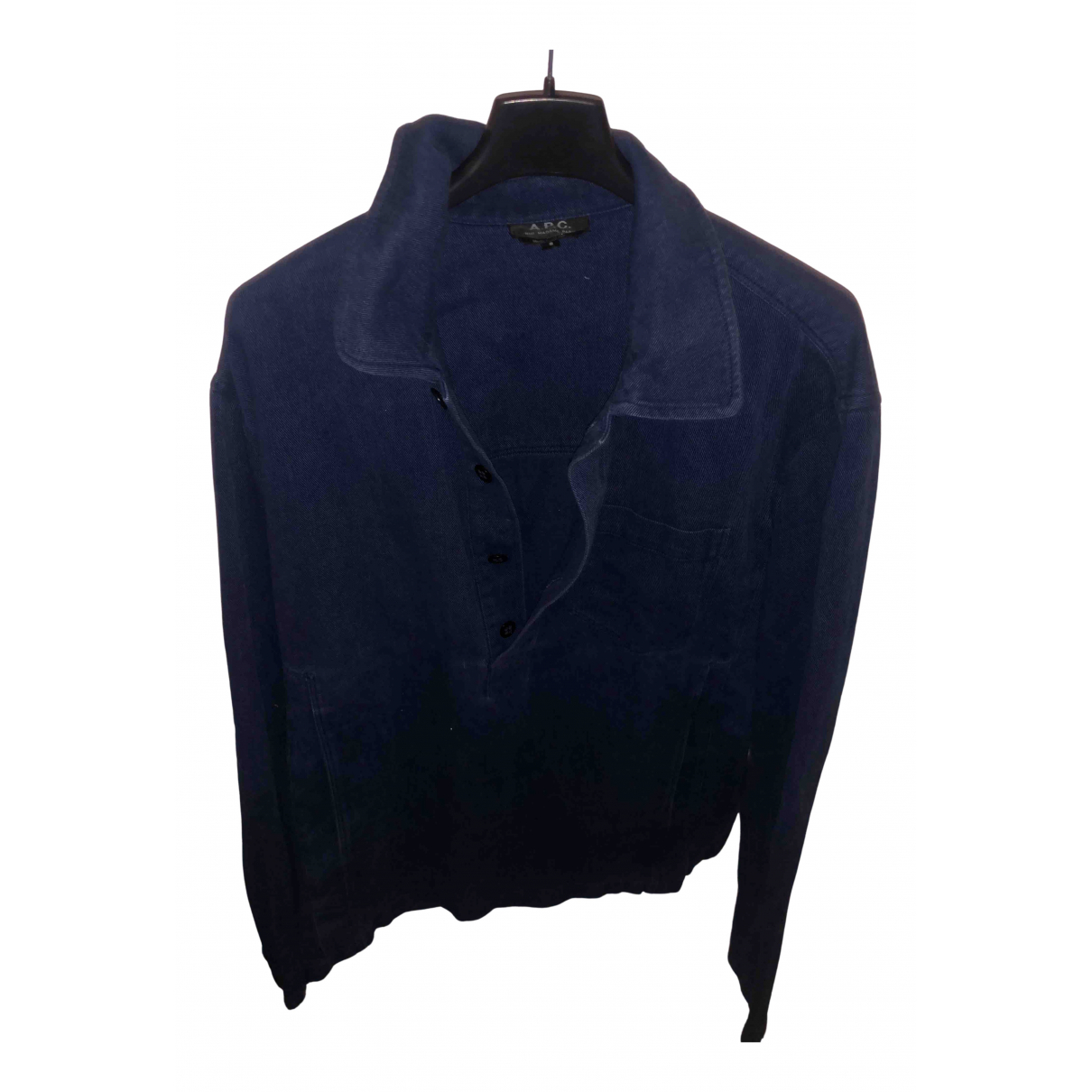 Apc - Top   pour femme en denim - bleu