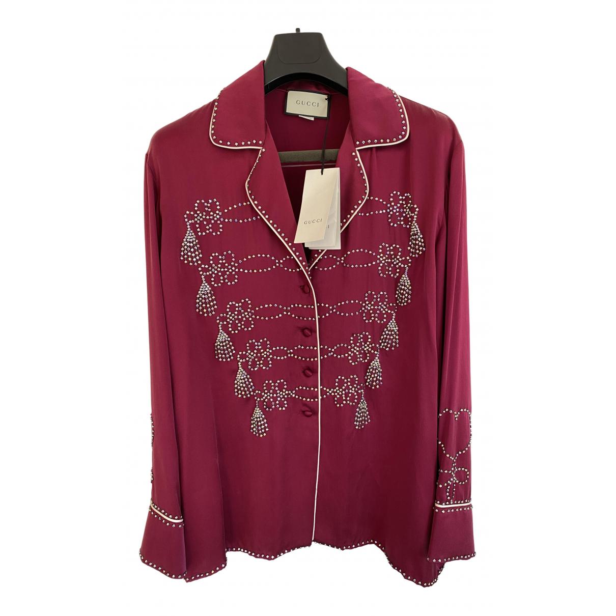 Gucci \N Purple Silk  top for Women 46 FR