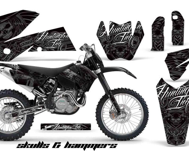 AMR Racing Graphics MX-NP-KTM-C4-05-07-HISH S Kit Decal Wrap For KTM EXC/SX/MXC?/SMR/XCF-W 2005-2007áHISH SILVER