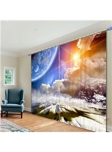 Spectacular Nature Scenery Printed 3D Curtain