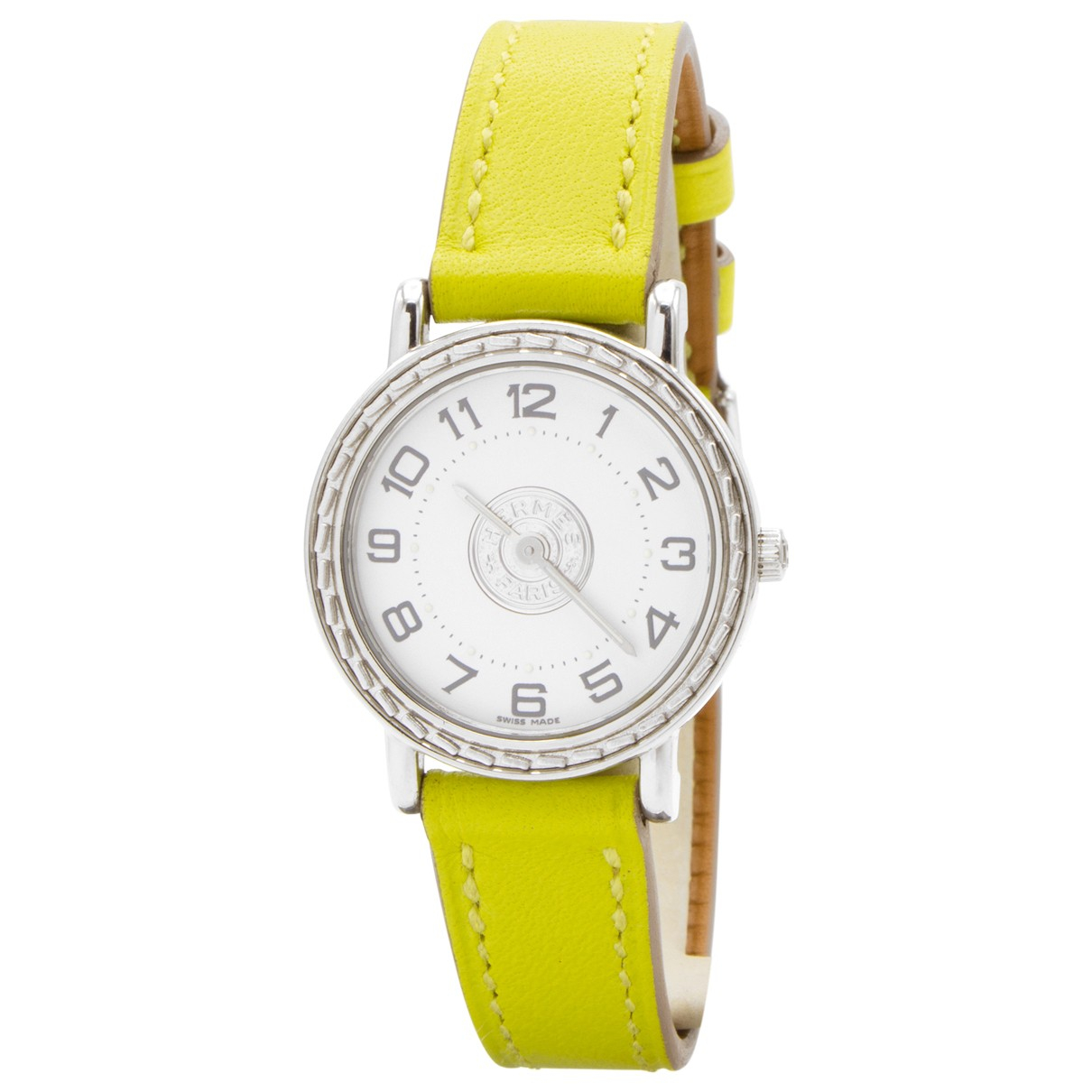 Hermes Sellier Uhr in  Silber Stahl