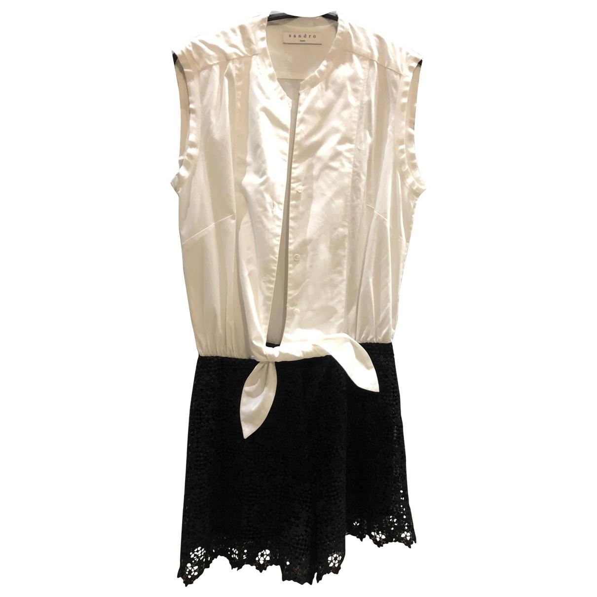 Sandro - Combinaison   pour femme en coton - blanc
