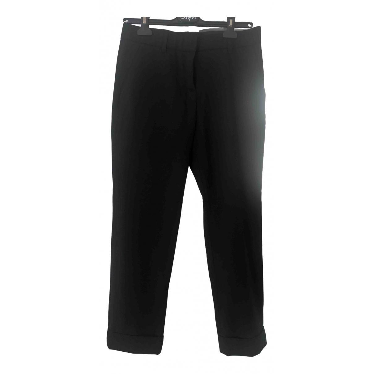 Barbara Bui \N Black Wool Trousers for Women 38 FR