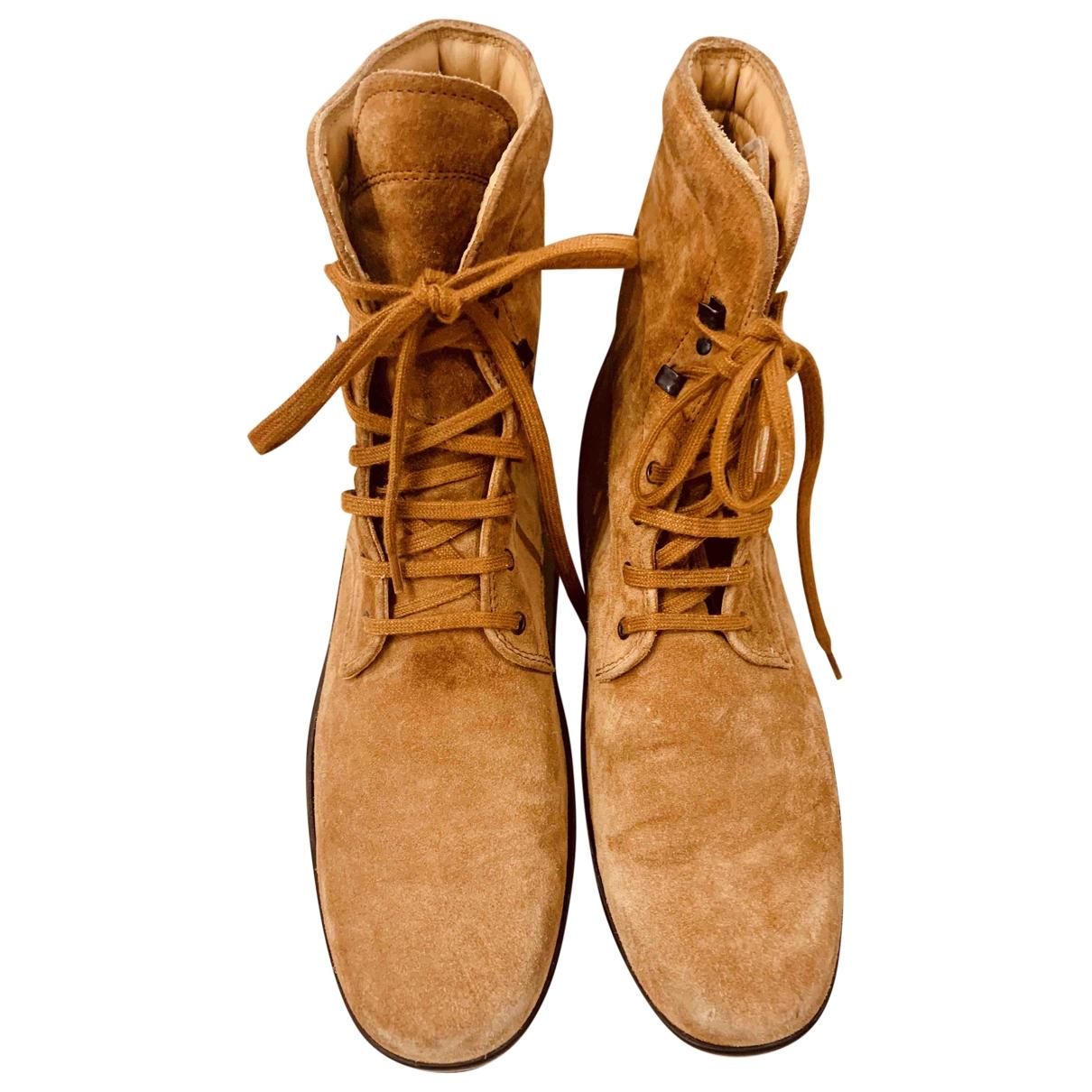 Tods - Boots   pour femme en suede - camel