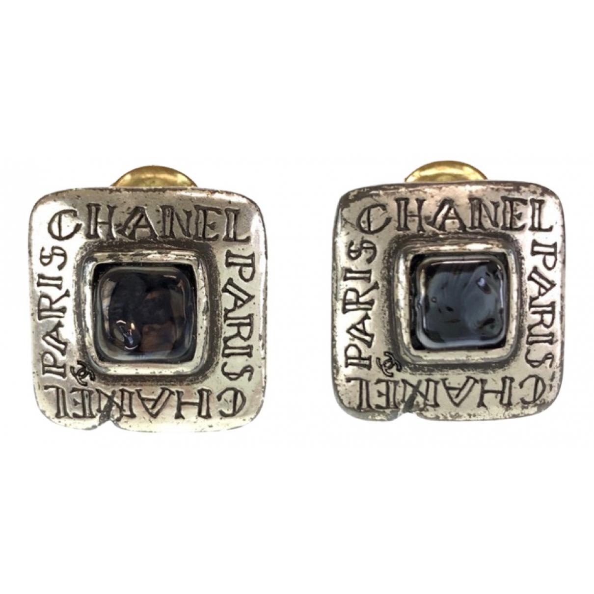 Chanel - Boucles doreilles   pour femme en argent - argente