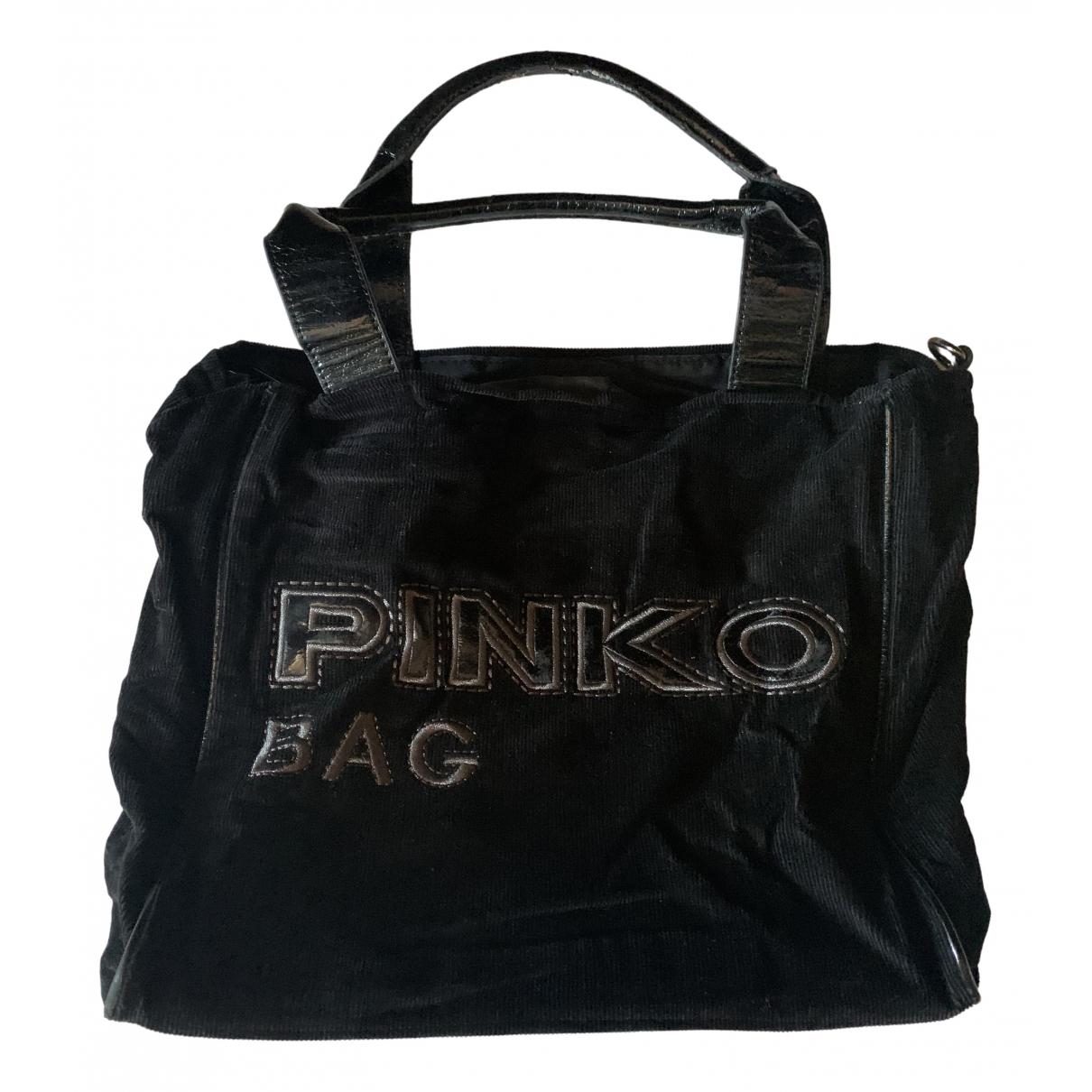 Pinko \N Handtasche in  Schwarz Samt