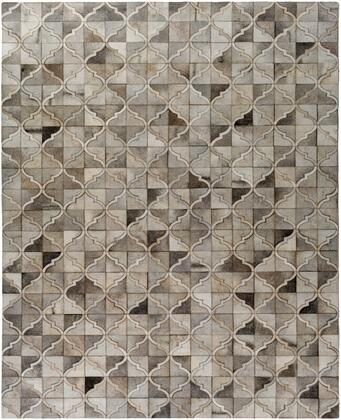 Outback OUT-1002 8 x 10 Rectangle Modern Rug in Ivory  Taupe  Medium