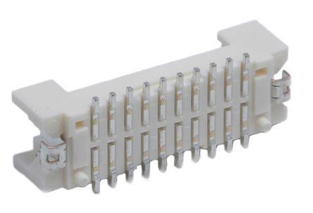 Hirose , DF13, 20 Way, 2 Row, Straight PCB Header (26)
