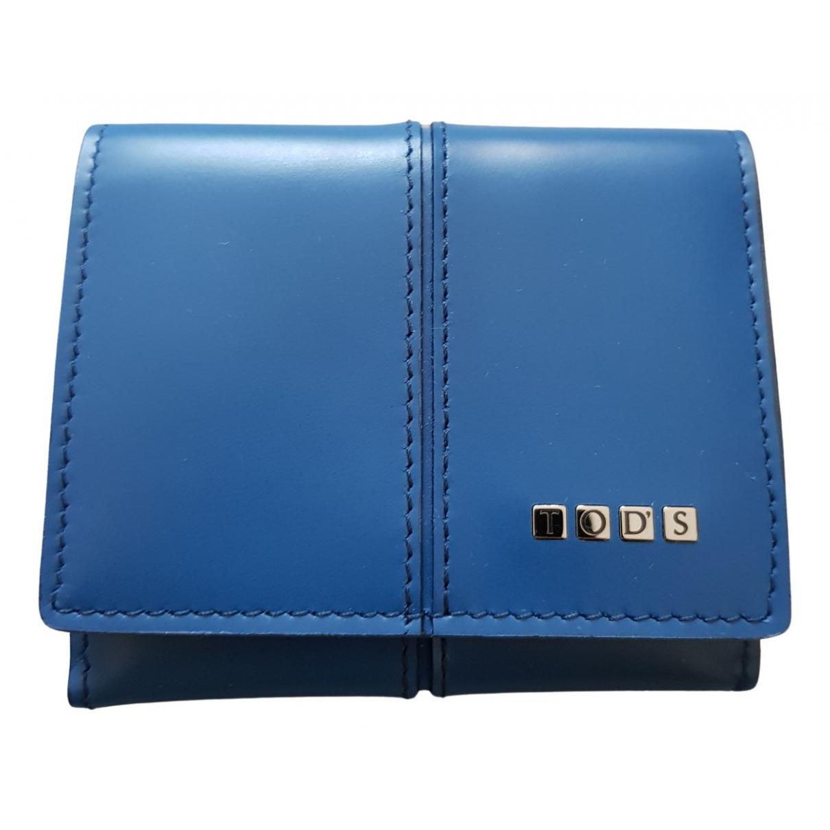 Tods - Petite maroquinerie   pour homme en cuir - bleu