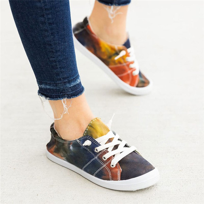 Ericdress Flat With Round Toe Lace-Up Casual Thin Shoes