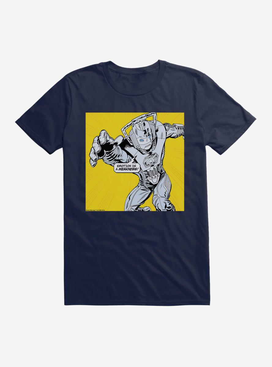 Doctor Who Cybermen Emotion Is A Weakness T-Shirt