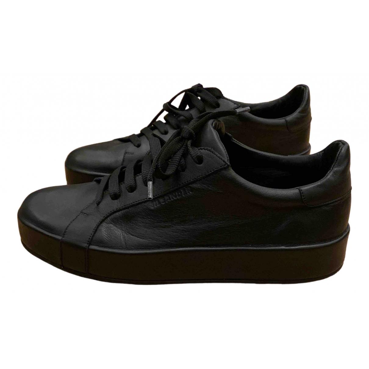 Jil Sander - Baskets   pour femme en cuir - noir
