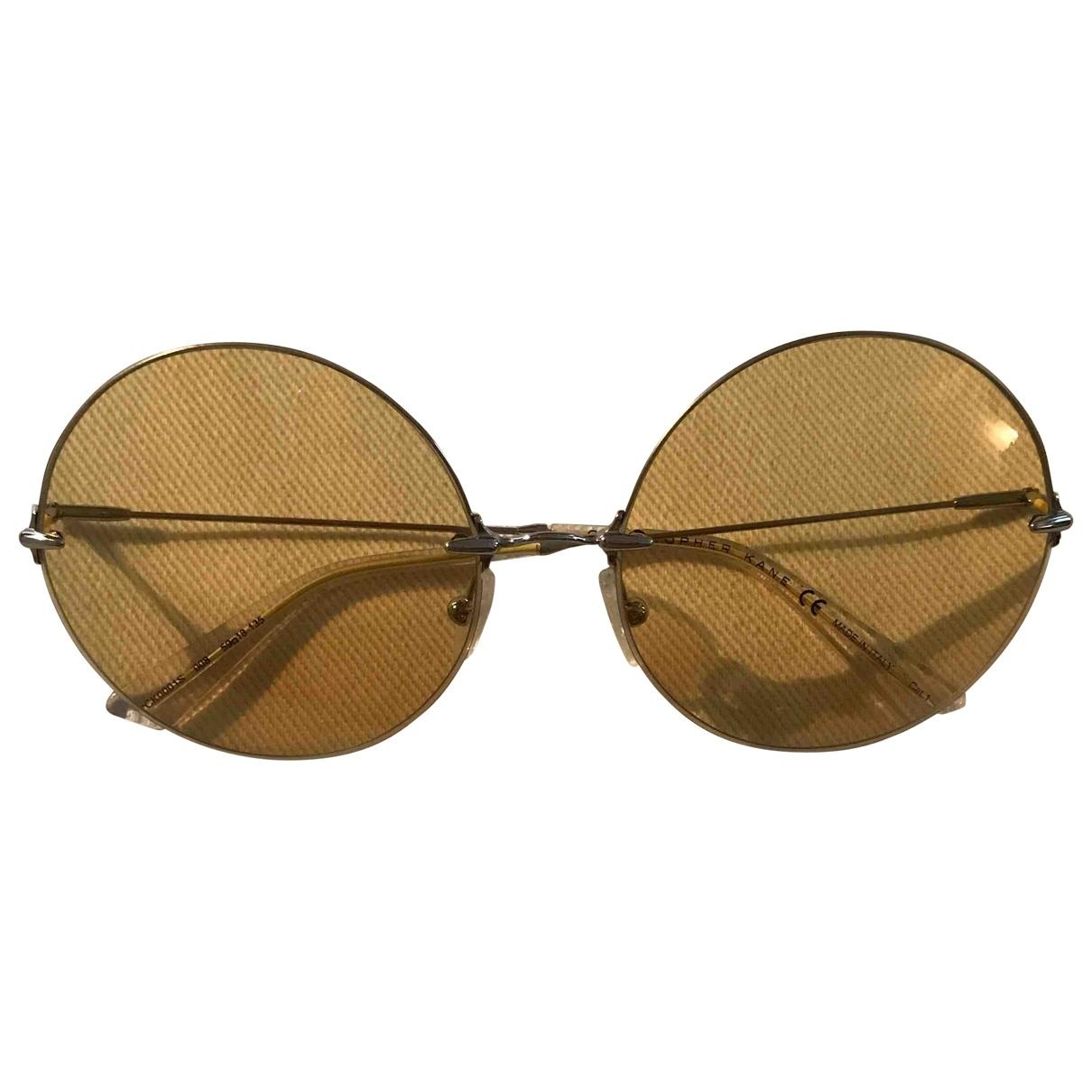 Christopher Kane \N Yellow Sunglasses for Women \N