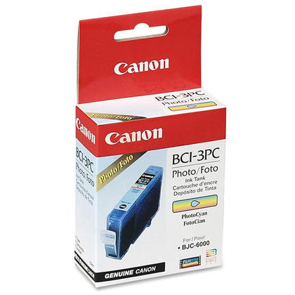 Canon BCI-3ePC 4483A003 cartouche d'encre originale cyan photo