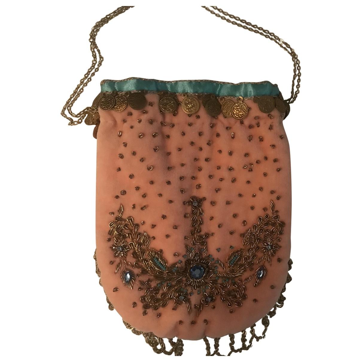 Blumarine - Pochette   pour femme en soie - rose