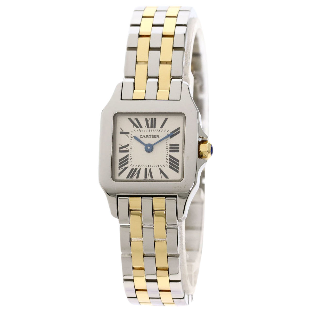 Cartier Santos Demoiselle Silver gold and steel watch for Women \N
