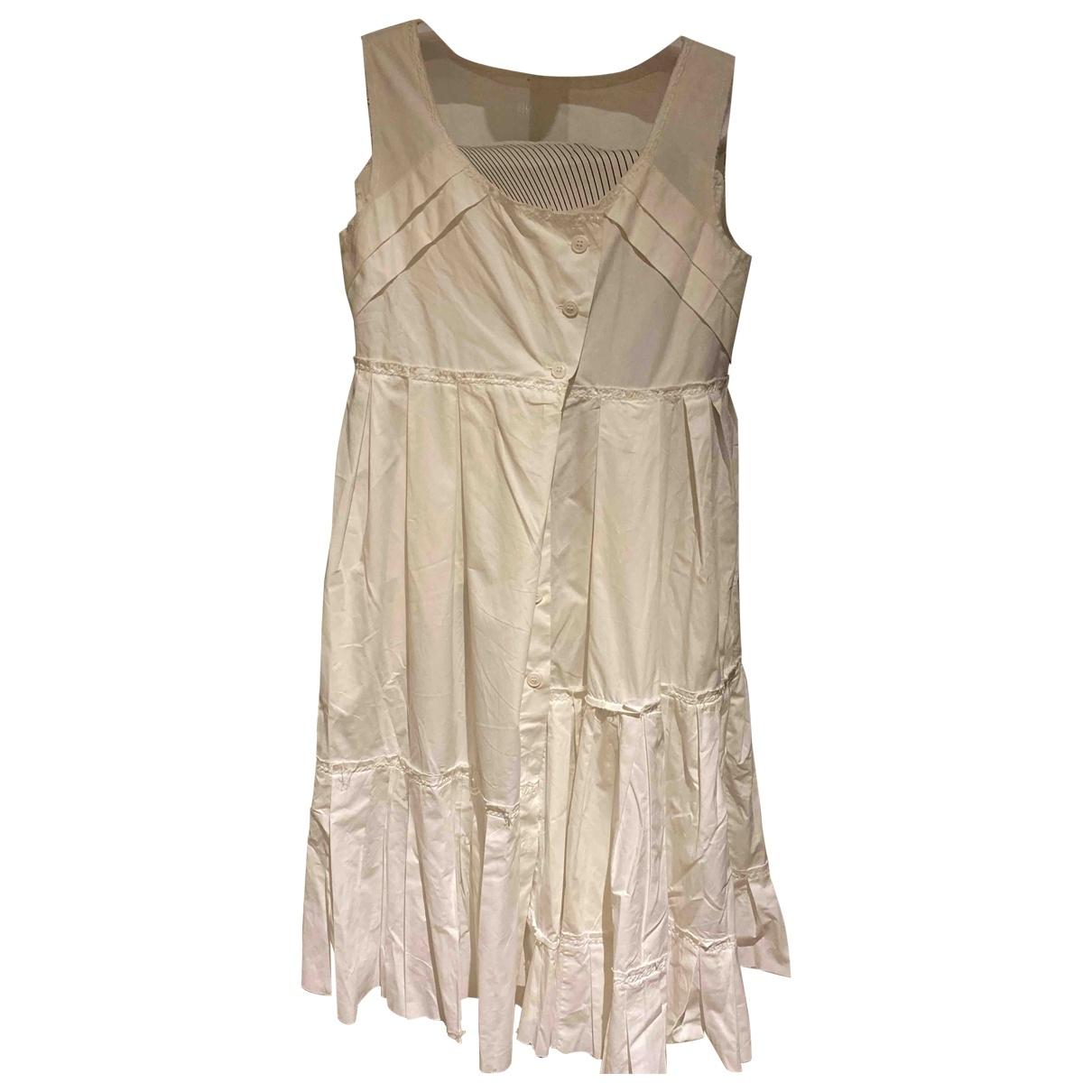 Alberta Ferretti \N Kleid in  Weiss Baumwolle