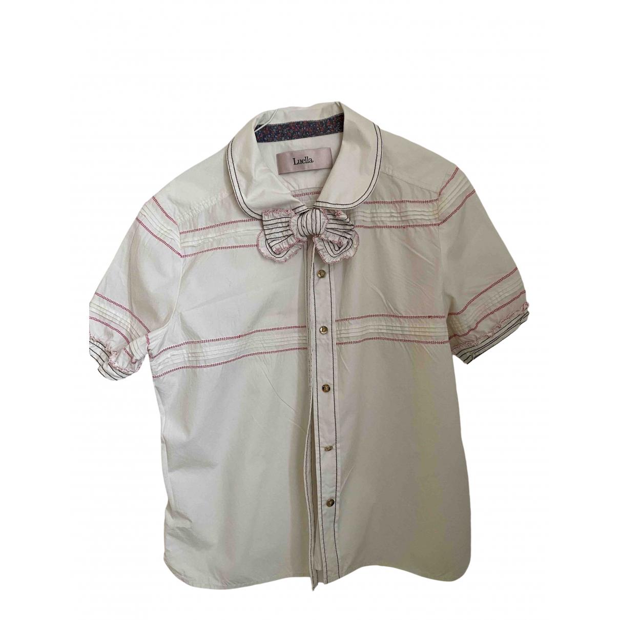 Luella - Top   pour femme en coton - blanc