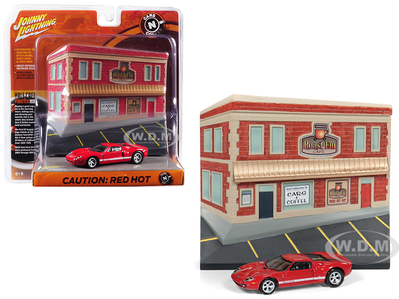 2005 Ford GT Red with Resin Cafe Front Facade