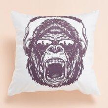 Orangutan Print Cushion Cover Without Filler