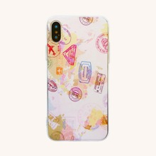 iPhone Huelle mit Stempel Muster