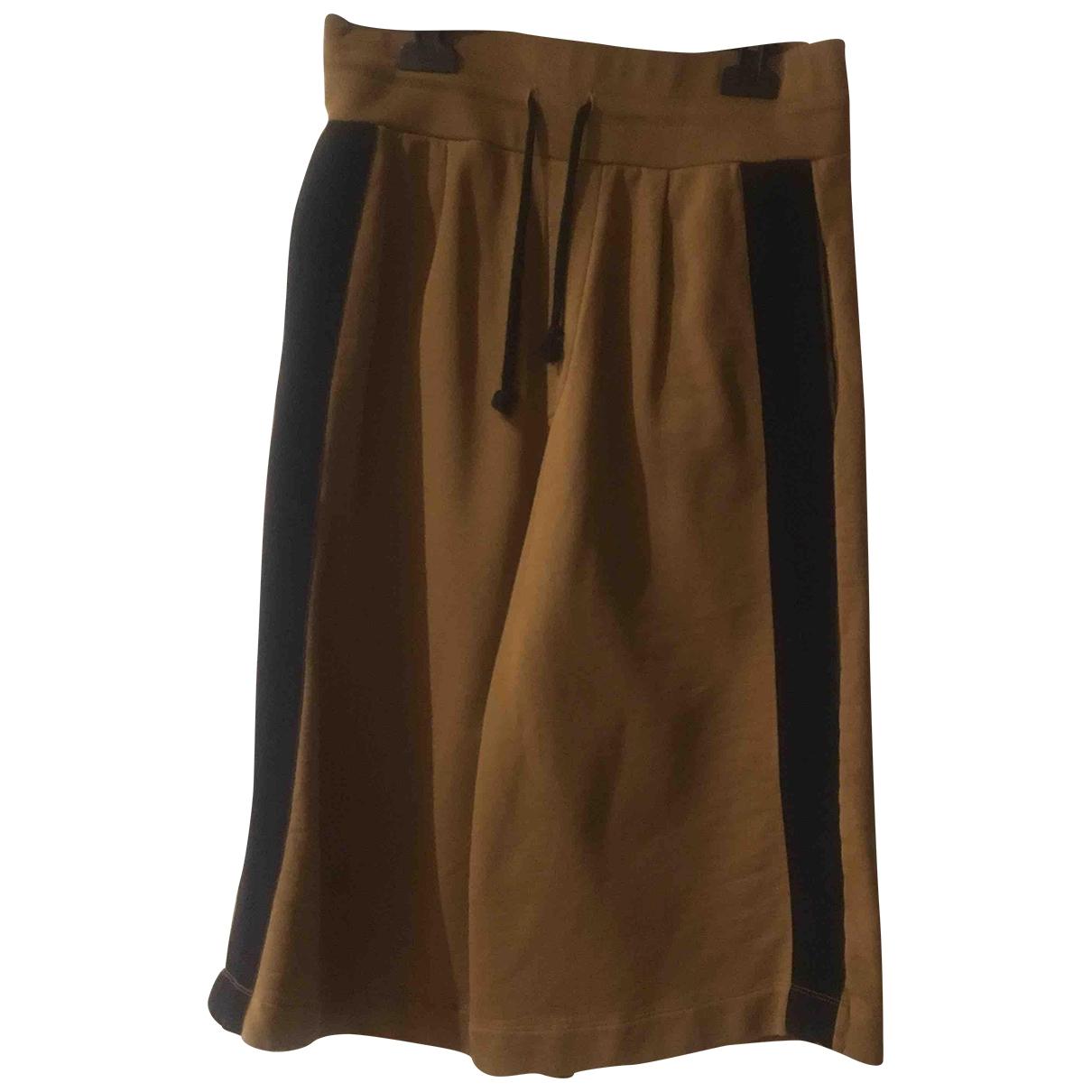 Dries Van Noten \N Brown Cotton Shorts for Women S International