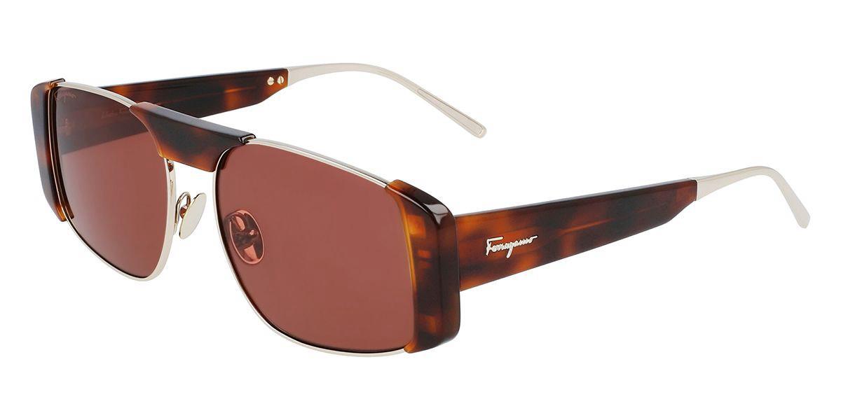 Salvatore Ferragamo SF267S 723 Women's Sunglasses Tortoise Size 55