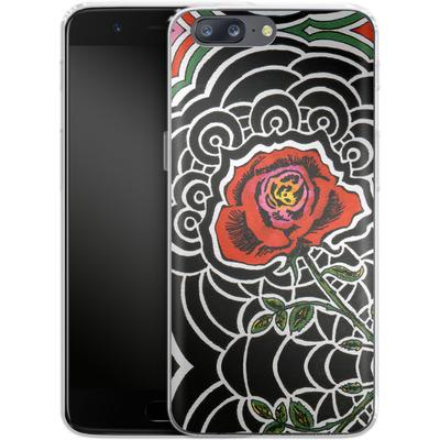 OnePlus 5 Silikon Handyhuelle - Marions Rose von Kaitlyn Parker