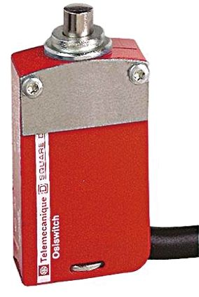 Telemecanique Sensors XCSM Safety Switch With Plunger Actuator, Metal, 2NO/2NC