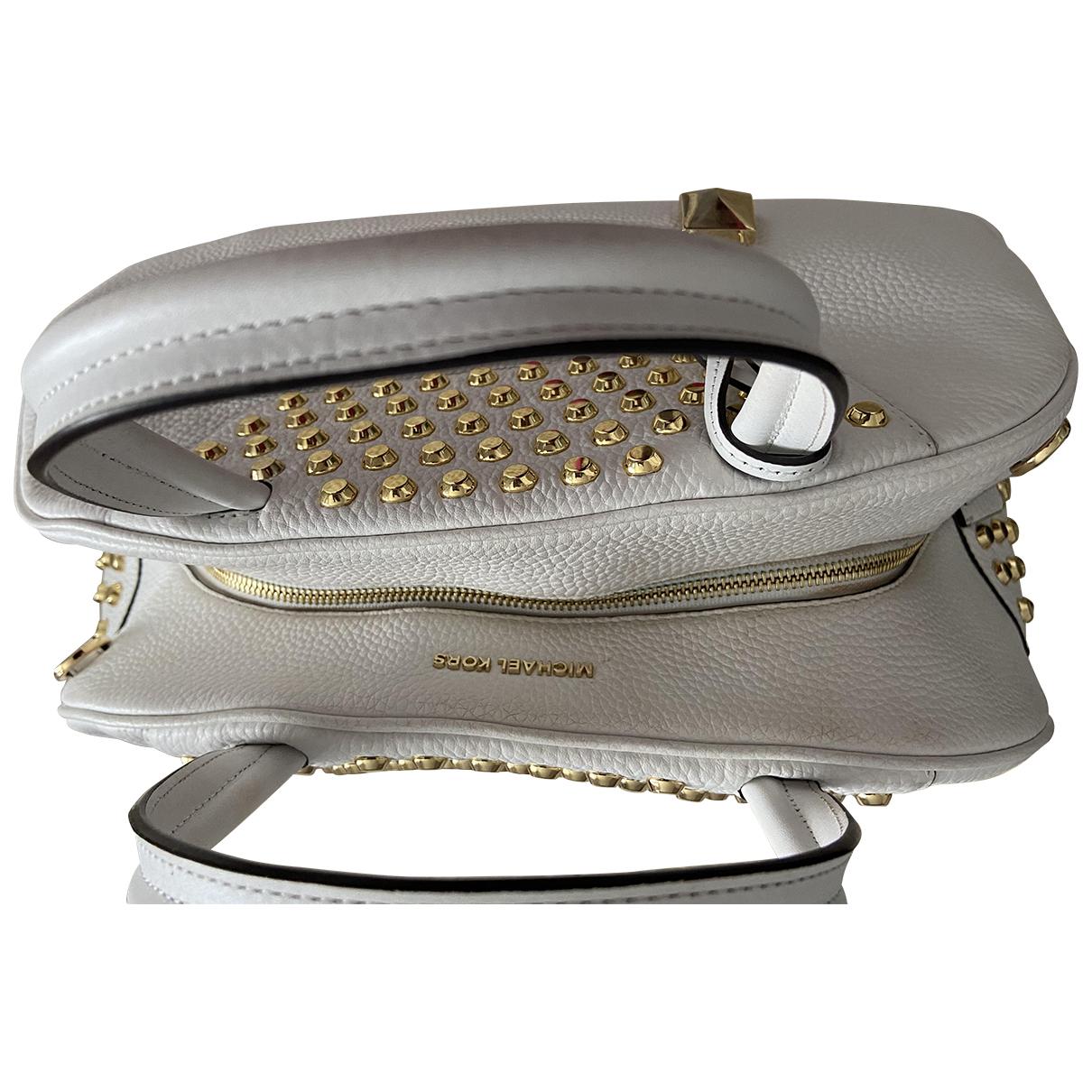 Michael Kors Brooklyn White Leather handbag for Women N