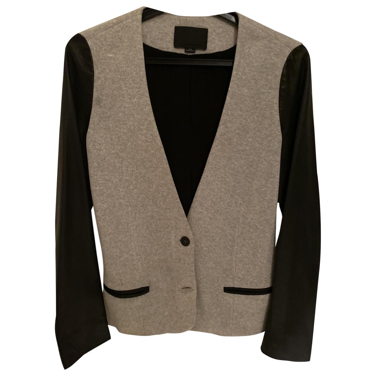 Alexander Wang \N Grey Leather jacket for Women 8 UK