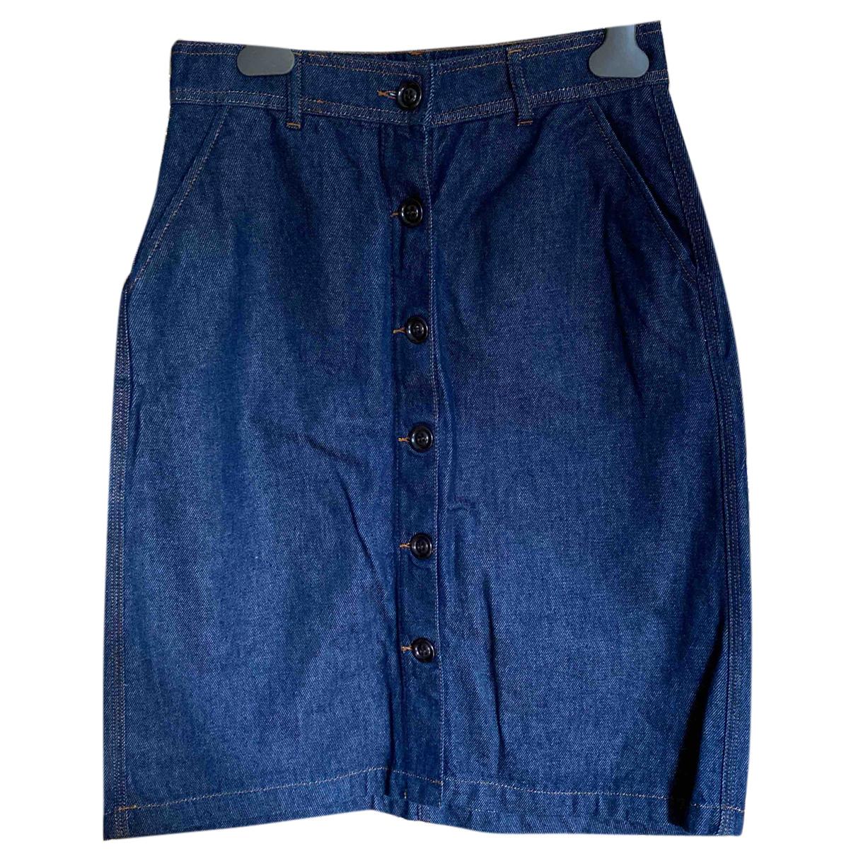 Soeur N Blue Cotton skirt for Women 40 FR