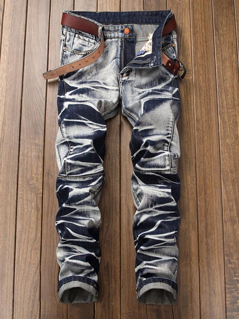 Ericdress Straight Zipper Mid Waist Jeans