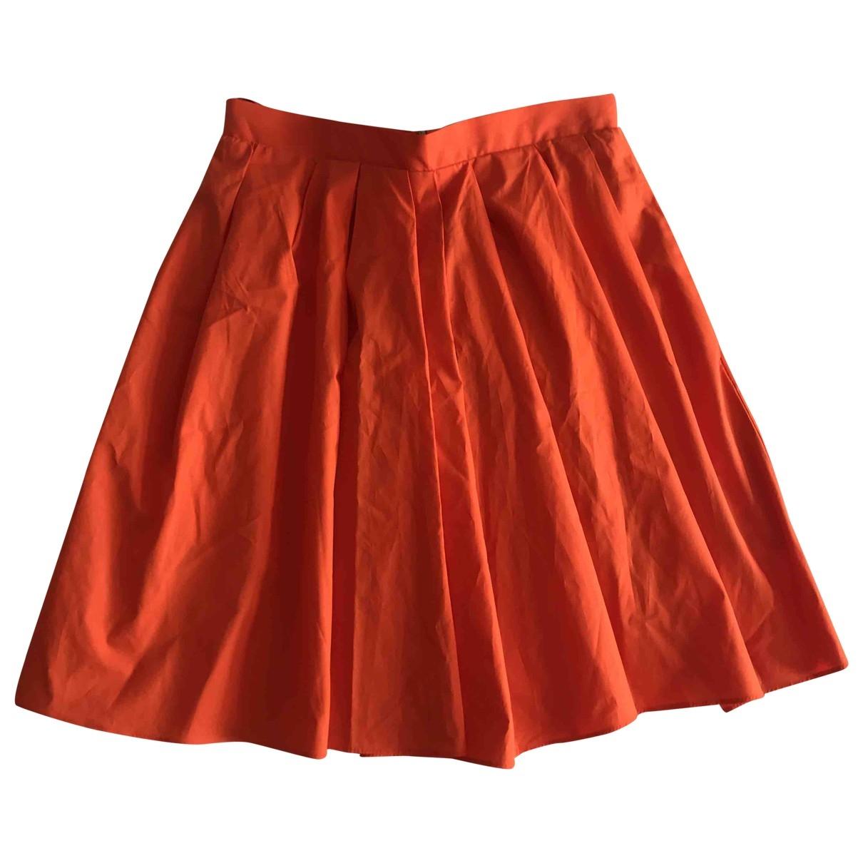 Carven \N Rocke in  Orange Baumwolle
