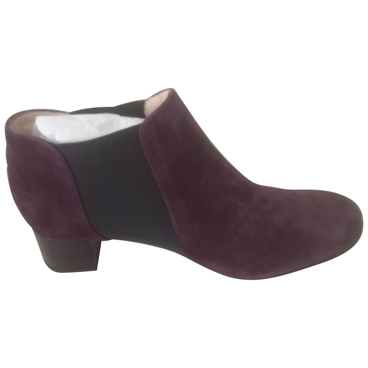 Non Signé / Unsigned \N Velvet Boots for Women 38 EU