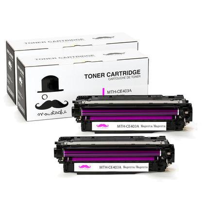 Compatible HP 507A CE403A cartouche de toner magenta - Moustache@ - 2/paquet