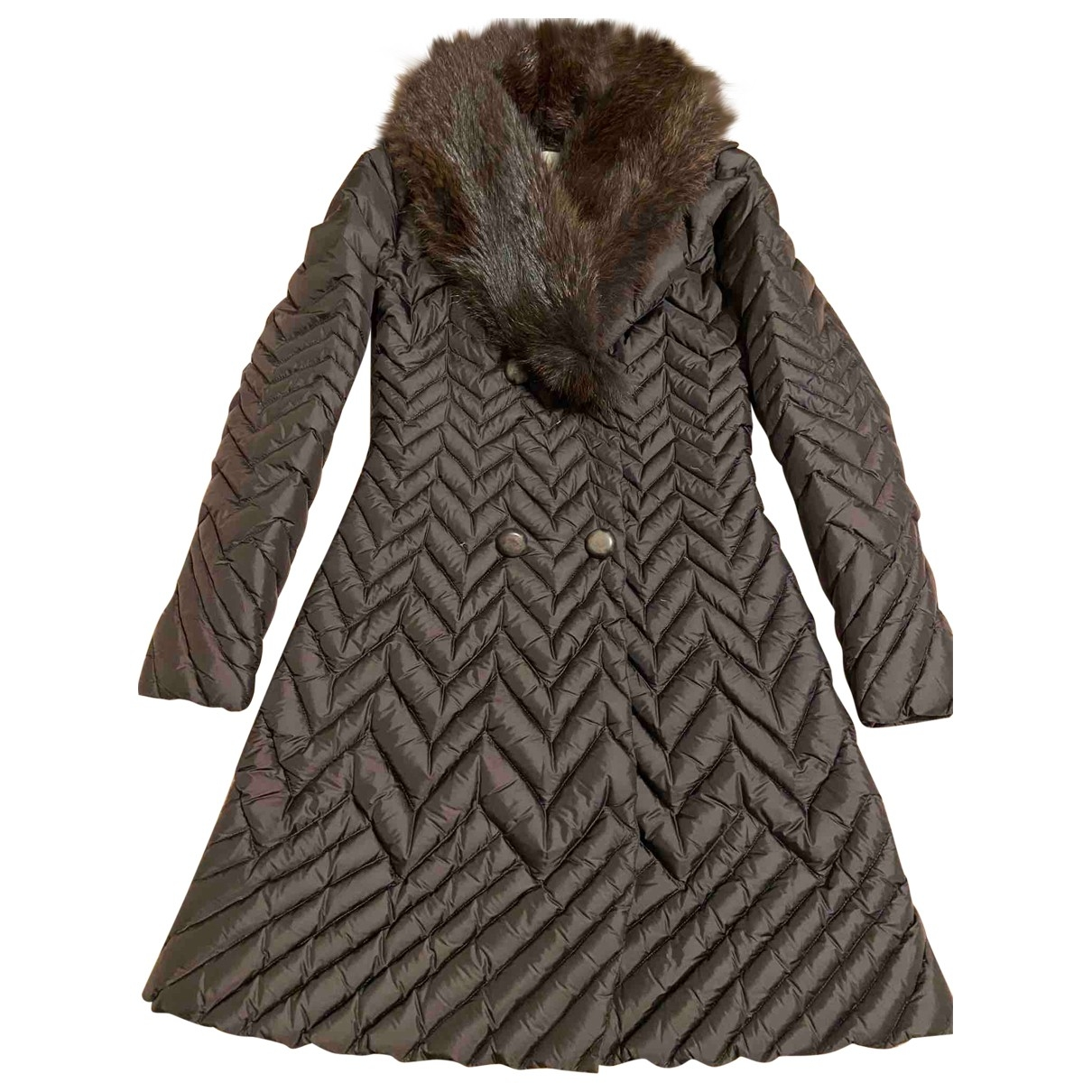 Non Signé / Unsigned \N Brown Fur coat for Women 38 IT