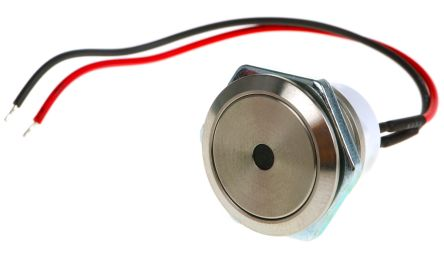 ITW 48M Single Pole Single Throw (SPST) Momentary Green LED Push Button Switch, IP67, 19.43mm, Panel Mount, 48V dc