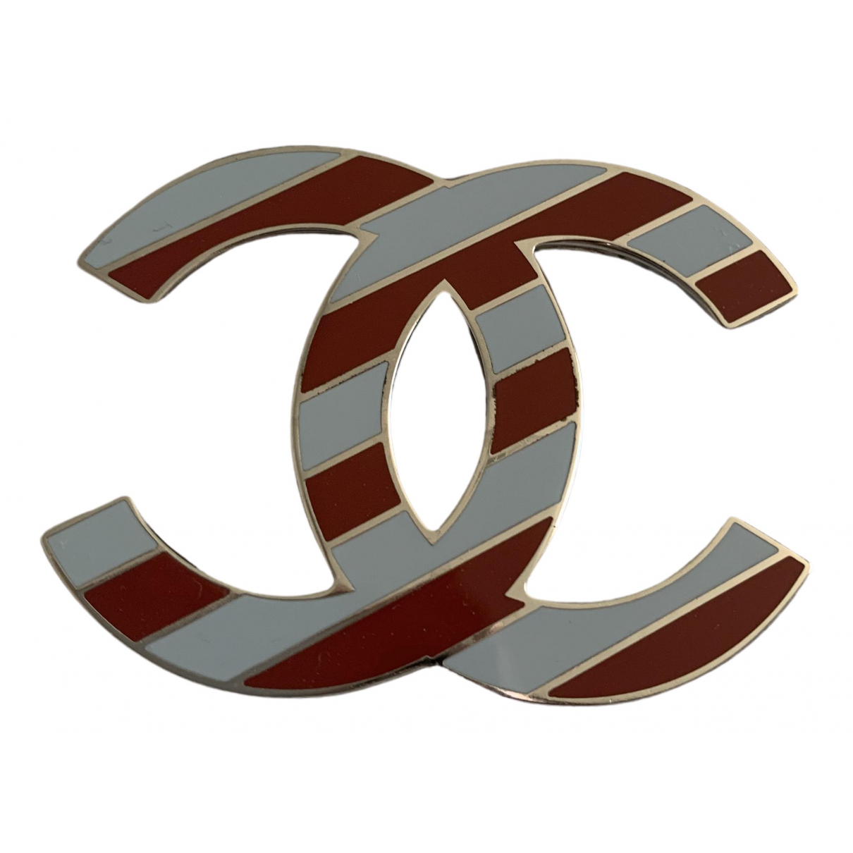 Broche CC en Metal Rojo Chanel