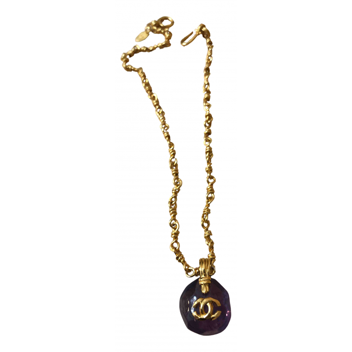 Chanel CC Purple Metal necklace for Women N