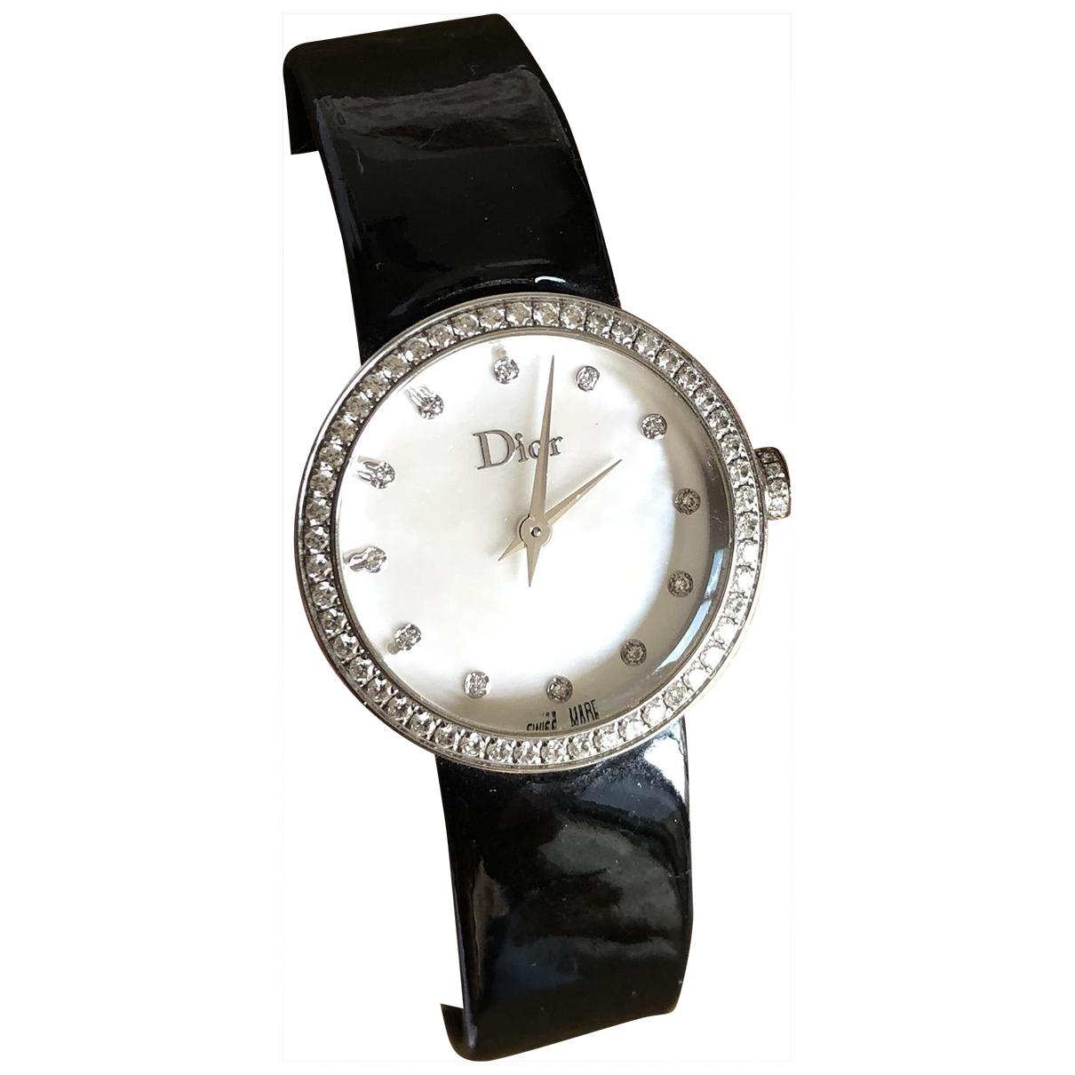 Dior D Uhr in  Schwarz Stahl