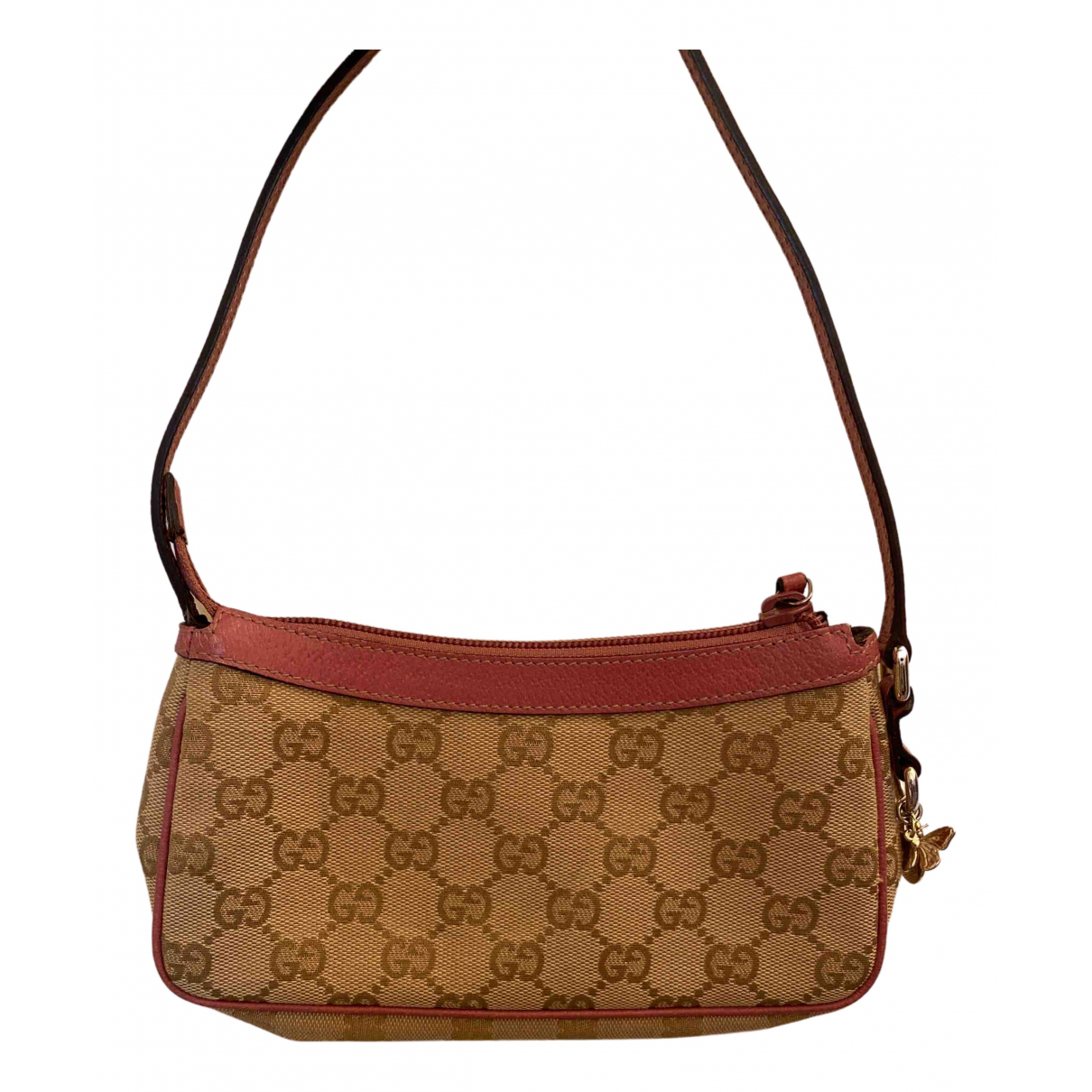 Gucci \N Clutch in  Rosa Leinen