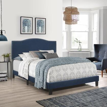 Kiley Collection 2657-500 Queen Size Upholstered Bed in Blue