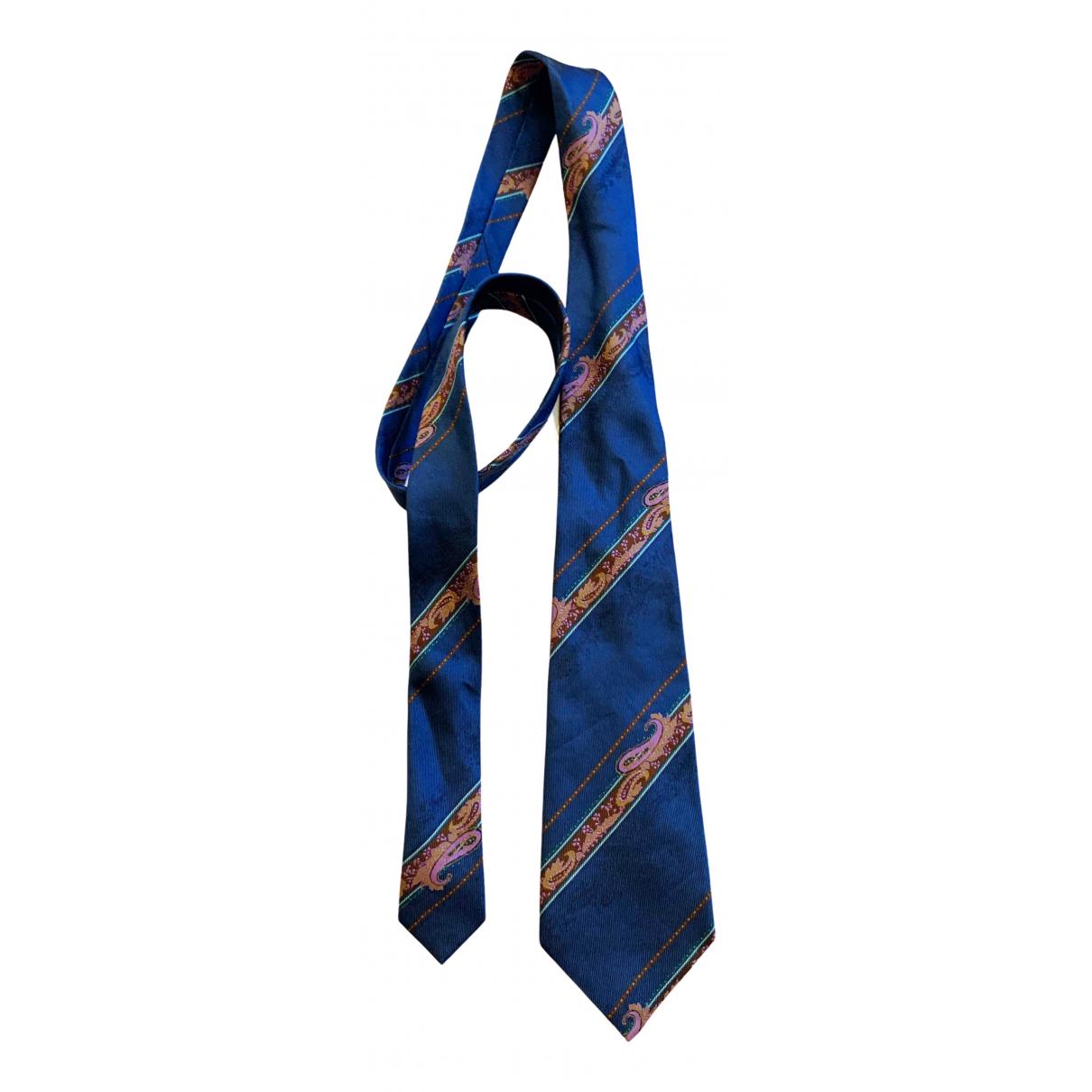Dior \N Krawatten in  Blau Seide